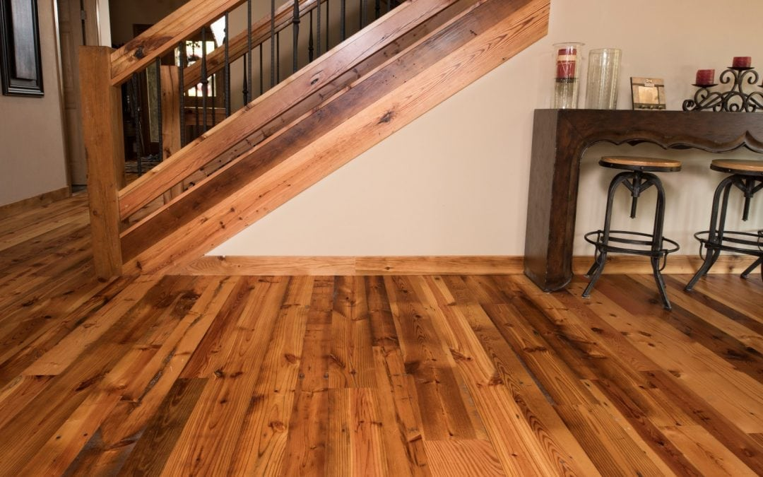 Hardwood floor installation process